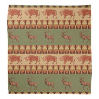 native pattern buffalo deer indigenous decoration bandana