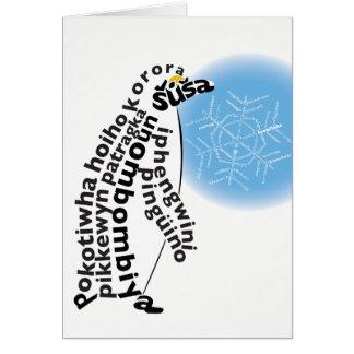 Native Penguin Card