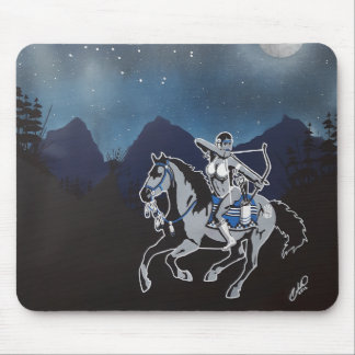 Native Pinup Girl Mouse Pad