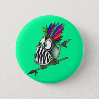 Native Piranha 2 Inch Round Button