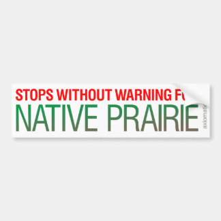 NATIVE PRAIRIE (GW) BUMPER STICKER