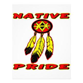 Native Pride 3 Feathers Letterhead Design