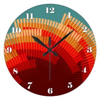 Native Rhythms of Summertime Large Clock
