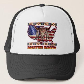 Native Roots American USA Design Trucker Hat