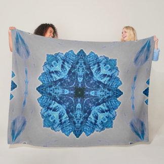 Native Shaman Shield Tribal Spirits Mandala Plush Fleece Blanket