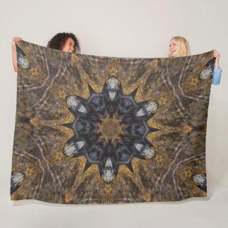 Native Shaman Spirit Totem Animal Shield Plush Fleece Blanket