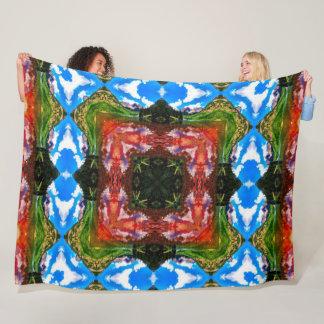Native Shaman Tribal Elements Mandala Quilt Fleece Blanket