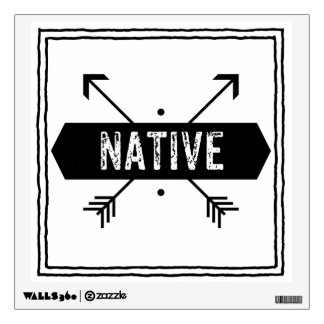 Native Square with Arrows Wall Sticker