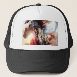 Native sunset american indian chiet AT Trucker Hat