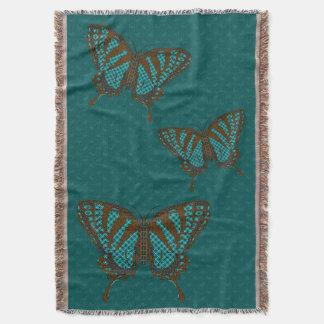 Native Swallowtail Throw Blanket