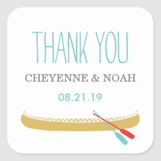 Native Themed | Canoe Wedding Favor Stickers