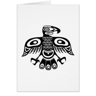 Native totem bird card
