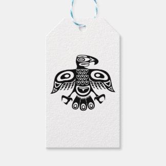 Native totem bird gift tags