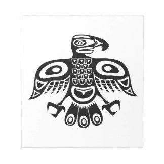 Native totem bird notepad
