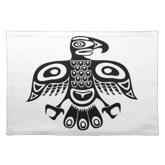 Native totem bird placemat