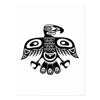 Native totem bird postcard