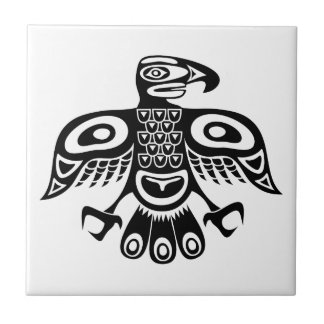 Native totem bird tile