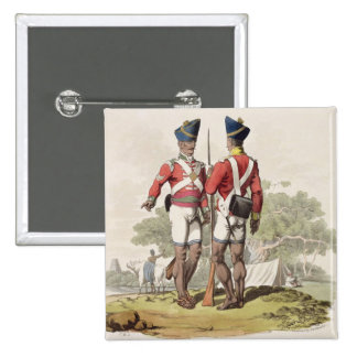 Native Troops in the East India Company's Service: 2 Inch Square Button