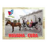 Natives in costume in carriage, Havana, Cuba Postcard