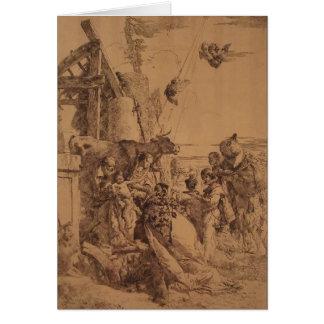 Nativité de Jésus par Giovanni Battista Tiepolo Carte De Vœux