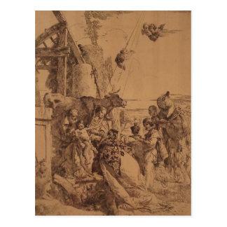 Nativité de Jésus par Giovanni Battista Tiepolo Cartes Postales