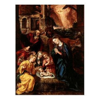 Nativité des anges et de l'enfant Jésus - De VOS Carte Postale