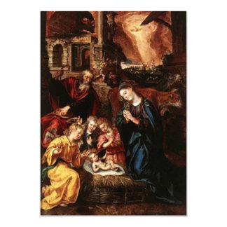 Nativité des anges et de l'enfant Jésus - De VOS Carton D'invitation 12,7 Cm X 17,78 Cm