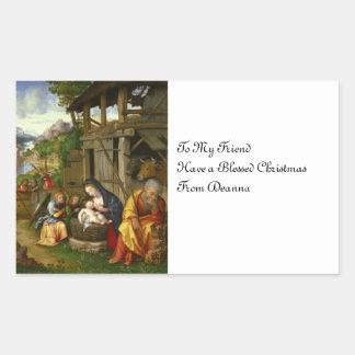 Nativity and Child Angels  c1515 Sticker