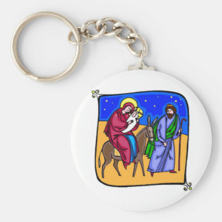 Nativity Basic Round Button Keychain