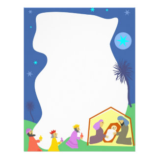Nativity Border Letterhead