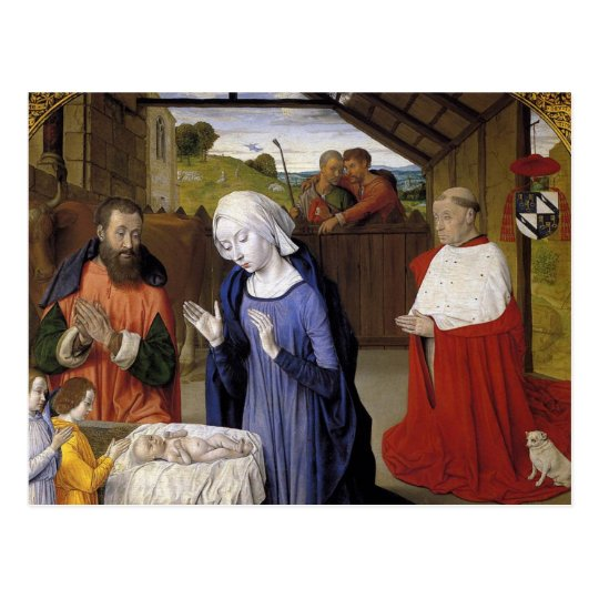 Nativity By Master of Moulins Postcard