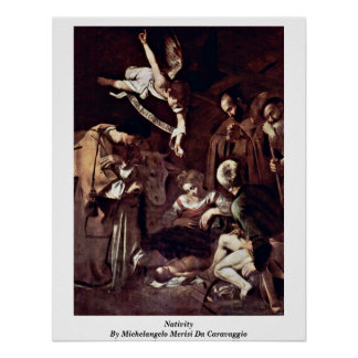 Nativity By Michelangelo Merisi Da Caravaggio Posters