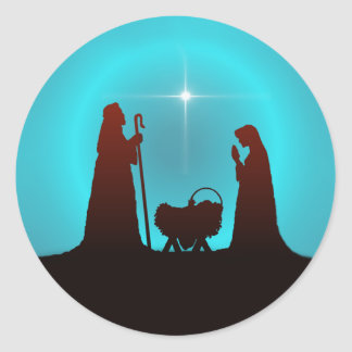 NATIVITY by SHARON SHARPE Classic Round Sticker
