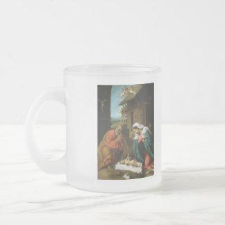 Nativity Christ Baby Jesus Christianity Scripture Frosted Glass Mug
