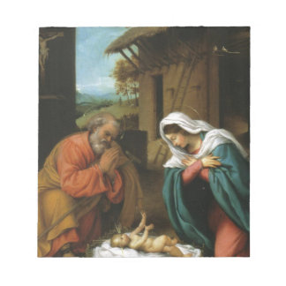 Nativity Christ Baby Jesus Christianity Scripture Notepads