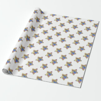 Nativity Christmas: Baby Jesus, Mary  in a manger Wrapping Paper