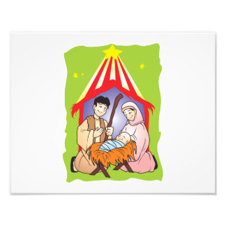 Nativity Christmas Birth of Jesus Christ Wrapper Photographic Print