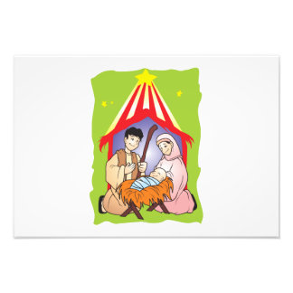 Nativity Christmas Birth of Jesus Christ Wrapper Photo Art