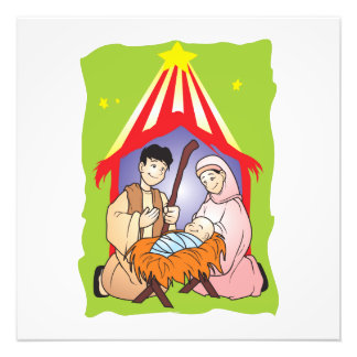 Nativity Christmas Birth of Jesus Christ Wrapper Photo
