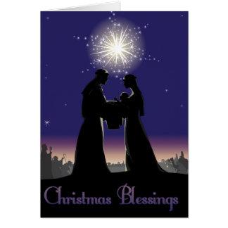 Nativity Christmas Blessings Card