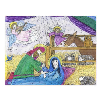 Nativity  Christmas Postcard