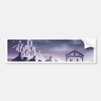 Nativity Christmas Scene Bumper Sticker
