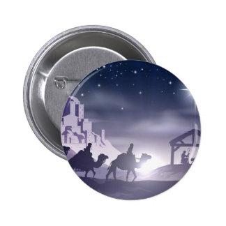 Nativity Christmas Scene Button