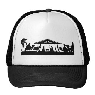 Nativity Christmas Scene Trucker Hat