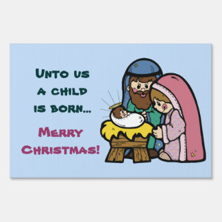 Nativity Christmas Yard SIgn