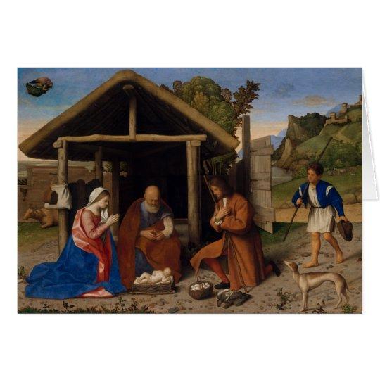 Nativity Crib Adoration of The Shepherds Christmas Card