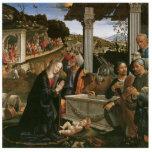 Nativity - Domenico Ghirlandaio Holiday Ornament Photo Sculpture Ornament