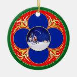 Nativity & Don Quixote fantasy - by Cervantes Christmas Tree Ornaments