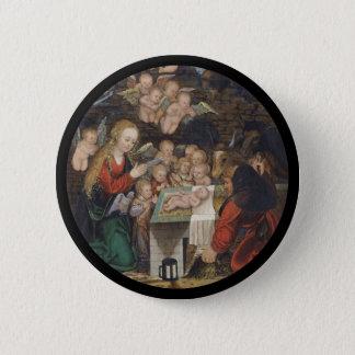 Nativity Featuring Cherubs 2 Inch Round Button
