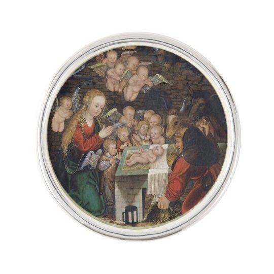 Nativity Featuring Cherubs Lapel Pin